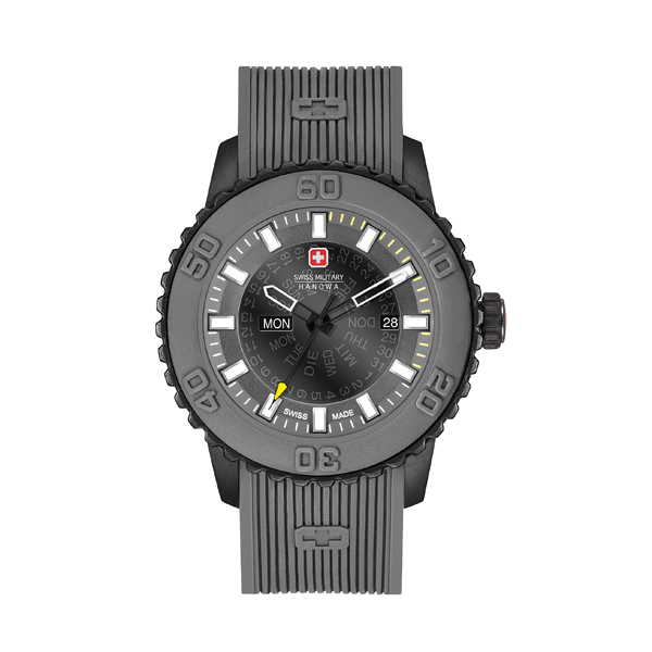 Swiss Military by Hanowa Gent's Twilight Watch with Silicone Strap Grey