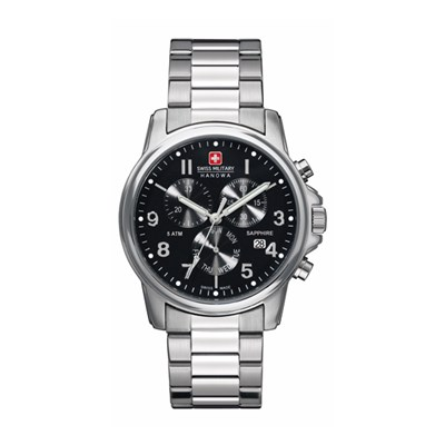 Swiss Military by Hanowa Gent s Swiss Soldier Chronograph Watch with  Stainless Steel Bracelet 62f92a4817