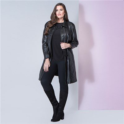 Lakeland Leather Anthea Mid-Length Leather Coat