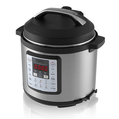 Tower Brushed Stainless Steel 12 in 1 Multi Cooker 4.5L Express Pot with Programmable Timer