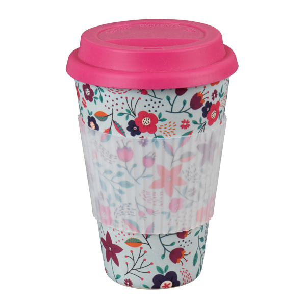 Cambridge Poppy Flowers 16oz Bamboo Sippy Mug No Colour