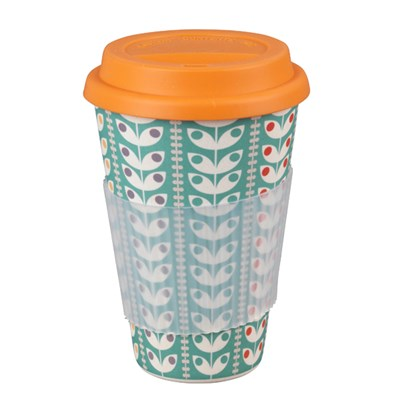 Cambridge Retro Daisy 16oz Bamboo Sippy Mug