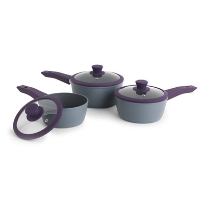Progress Forged 3pc Saucepan Set (Purple)