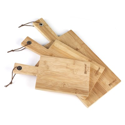 Progress 3pc Bamboo Paddle Chopping Board Set