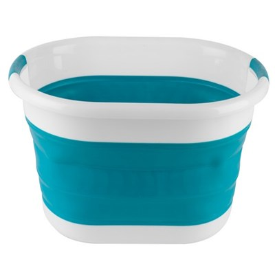 Beldray Oval Collapsible Laundry Basket - Turquoise