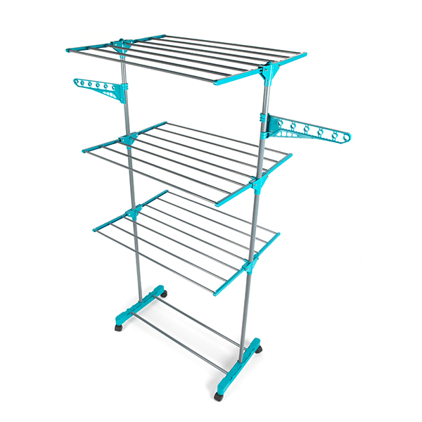 beldray 3 tier deluxe clothes airer and laundry basket set. Black Bedroom Furniture Sets. Home Design Ideas