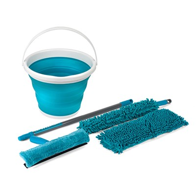 Beldray 7 Piece Duster and Mop Cleaning Set and Beldray 10L Collapsible Bucket
