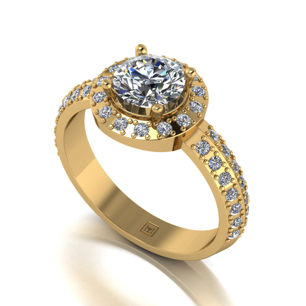 Moissanite 9ct Gold 1.4ct eq Occasion Ring Yellow Gold