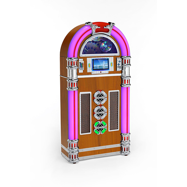 Steepletone Touch Rock 50 MW Retro Jukebox Light Wood