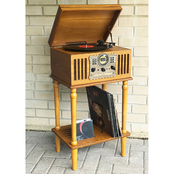 Stand for Westminster Nostalgia 3-Speed Record Player Light Wood