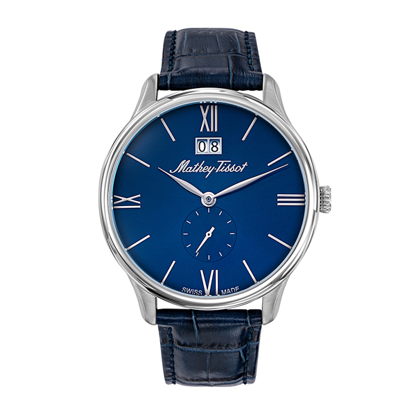 Mathey-Tissot Gent's Edmond Watch with Genuine Leather Strap Blue