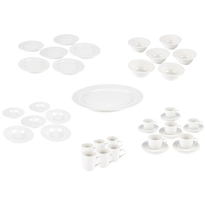 Alessi La Bella Tavola 36pc Crockery Collection plus 14in Oval Serving Platter