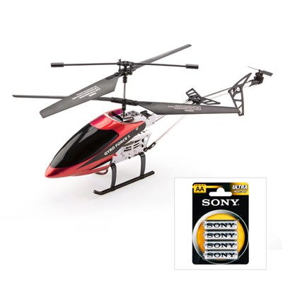 Gyro Force X High Performance RC Helicopter with 4 x Sony AA Batteries