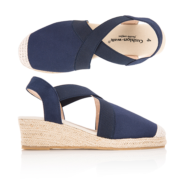 Cushion Walk Espadrille Navy