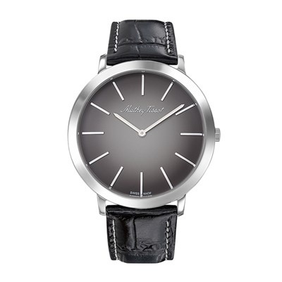 Mathey-Tissot Gent's Super Slim Darius with Genuine Leather Strap