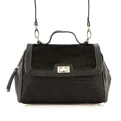 Lucy K Black Satchel Bag