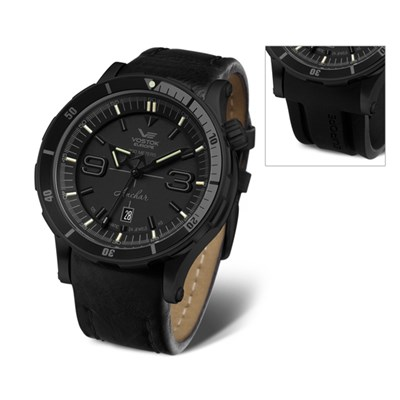 Vostok Europe Gent's Automatic PVD Plated Anchar Stealth Watch with Silicone Strap