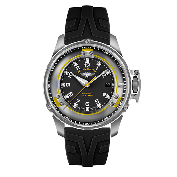 Sturmanskie Gent's Limited Edition Automatic Mars Watch with Silicone Strap Yellow