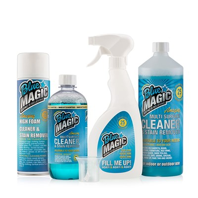 Blue Magic Universal Cleaning Concentrate 1L, 500ml Concentrate, Foam Cleaner, Bottle and Measuring Cap