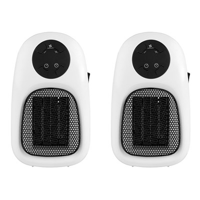 Beldray Handy Plug-In Heater 500W (Twin Pack)
