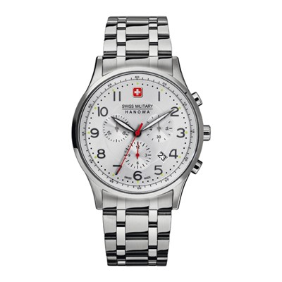 Swiss Military by Hanowa Gent's Patriot Chronograph Watch with Stainless Steel Bracelet