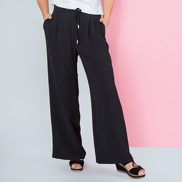 Kasara Wide Leg Trouser Black