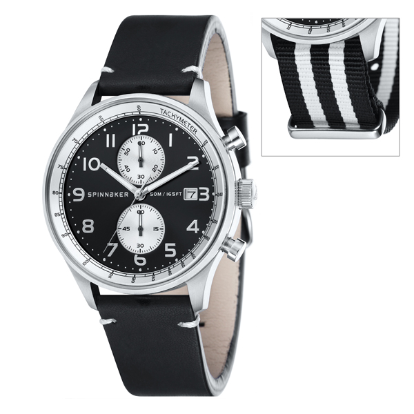 Spinnaker Gent's Maritime Chronograph Watch with Interchangeable Strap Black