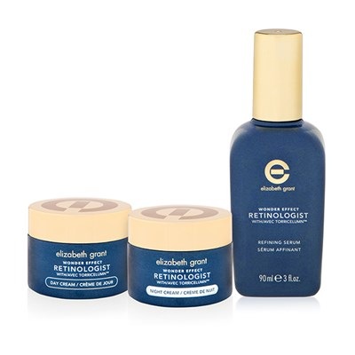 Elizabeth Grant 3pc Wonder Effect Advanced Retinol 3pc Skincare Collection Refinining Serum 90ml, Day Cream 50ml, Night Cream 50ml