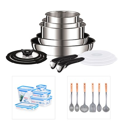 Tefal Ingenio 13pc System with FREE Masterseal Collection & 6pc Utensil Set