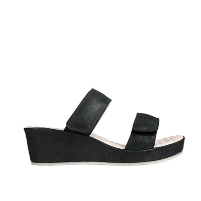 Scholl Cora Suede Leather Mule Wedge