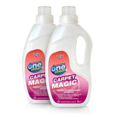 Carpet Magic 2 x 1L Concentrated Carpet and Upholstery Shampoo