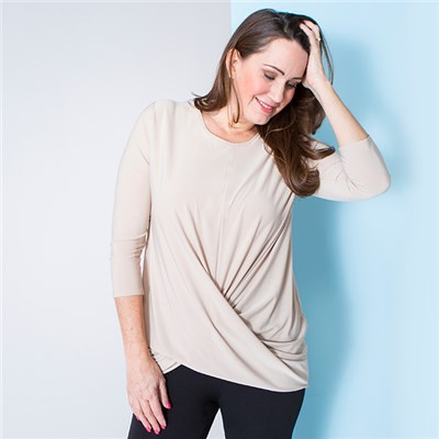 Nicole Plain Twist Front Top