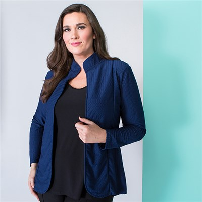 Nvee Unlined Dip Hem Jacket