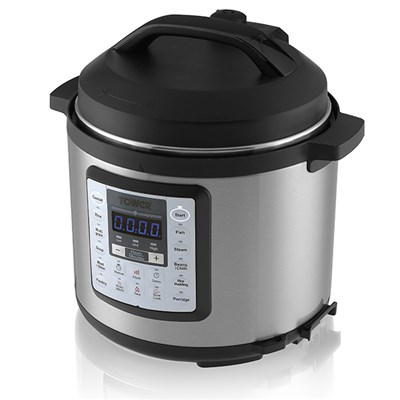 Tower Brushed Stainless Steel 12 in 1 Multi Cooker Express Pot with Programmable Timer
