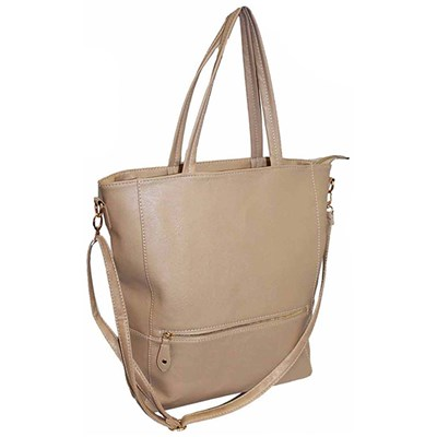 Tote Bag with Zip Detail