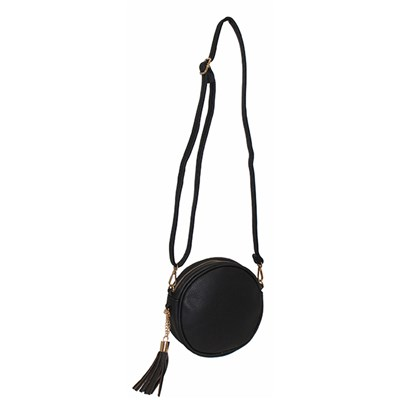 Round Tassel Detail Shoulder Bag