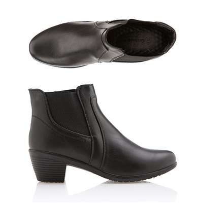 Cushion Walk Comfort Heeled Ankle Boot