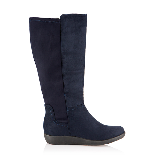 Cushion Walk Stretch Tall Boot Navy