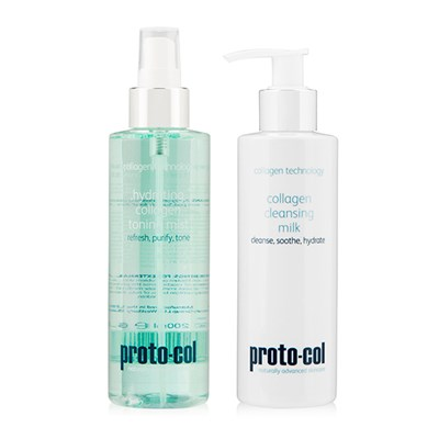 proto-col Collagen Cleansing Milk 200ml and Hydrating Collagen Toning Mist 200ml
