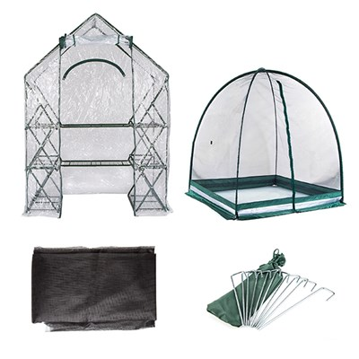 The Ultimate Garden Grow Bundle incl. Greenhouse, Garden Dome, Mesh Cover & Pegs