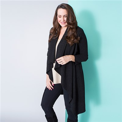 Malissa J Ribbed Waterfall Jacket