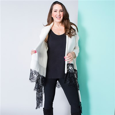 Malissa J Lace Detail Jacket