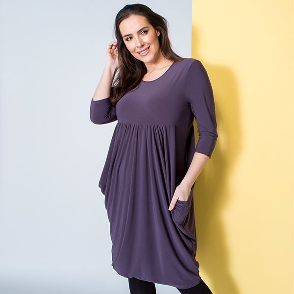 Nicole Drape Dress Slate