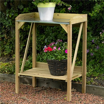 Metal Top Potting Bench