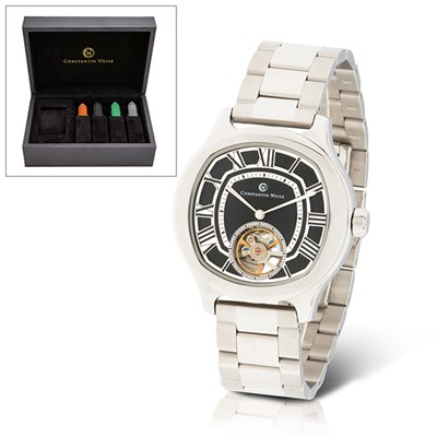 Constantin Weisz Gent's Ltd Edt (to 300pcs) Automatic Open Heart Watch with Interchangeable Straps & Luxury Box