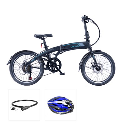 Viking Gravity 6sp 24V 250W Folding Electric Bike with 20inch Wheel, Free Bike Helmet & Lock