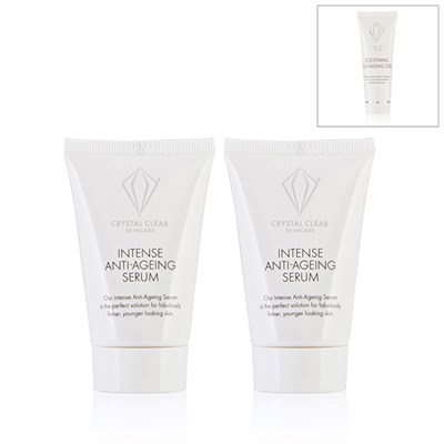 2 for 1 Crystal Clear Intense Anti-Age Serum 30ml with Bonus Soothing Cleansing Gel 25ml