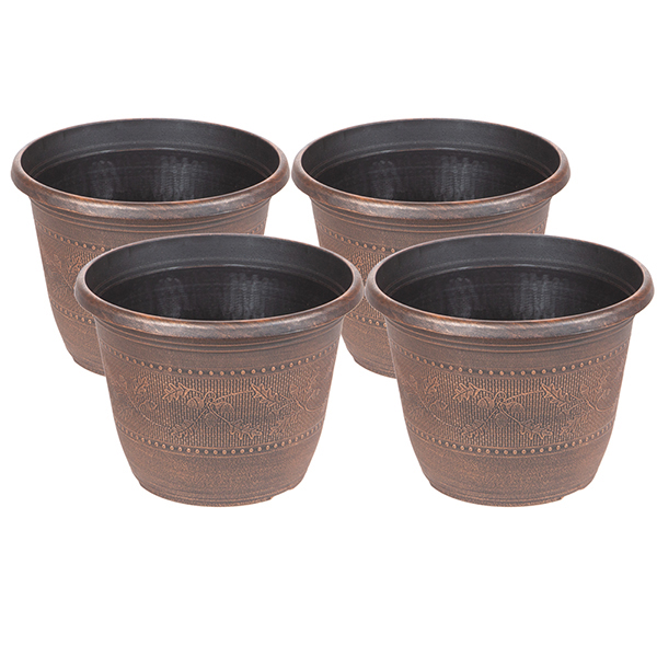 Acorn Planters Round 10inch (4 Pack) No Colour