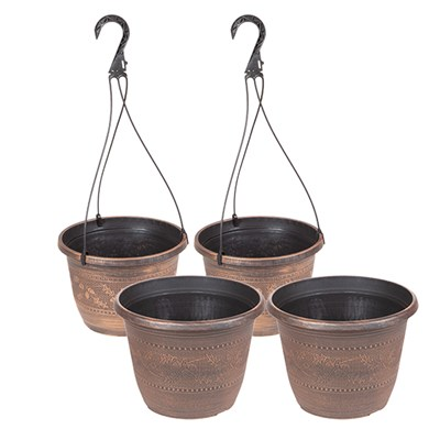 Acorn Set with Baskets & Planters 10inch (Twinpack)