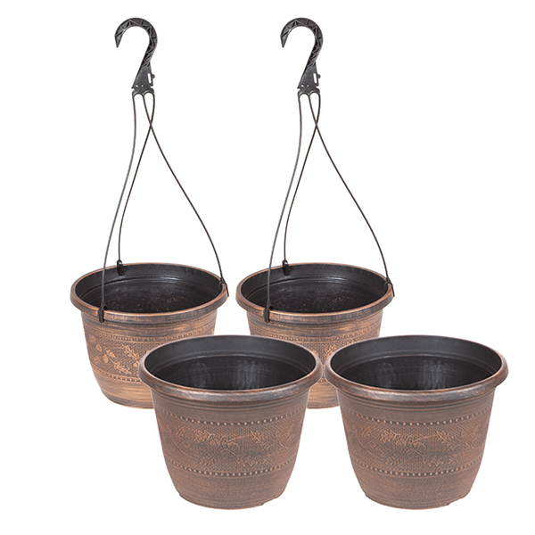 Acorn Set with Baskets & Planters 10inch (Twinpack) No Colour